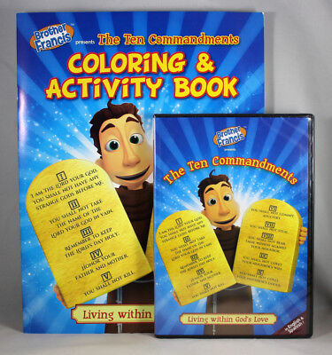 Brother Francis The Ten Commandments NEW DVD & Coloring Activity Book SET God