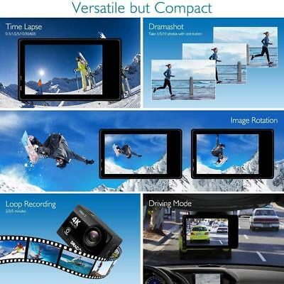 4K Ultra HD Sport Action Camera Cam Camcorder Underwater WIFI Remote Control