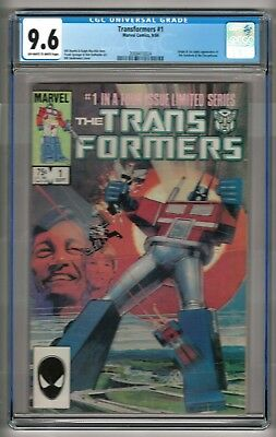 Transformers #1 (1984) CGC 9.6  OW/W Pages  Mantlo - Springer - Sienkiewicz