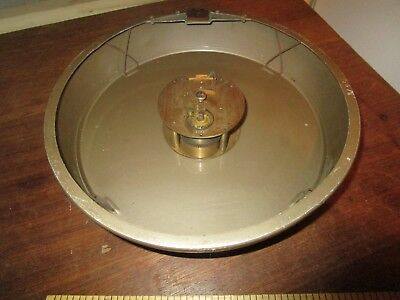 Vintage 50s era 9 in. Elliott Factory Clock marked L.C.C. to dial - London C.C.