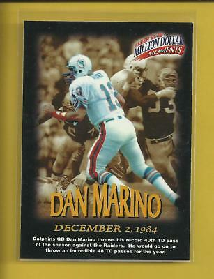 Dan Marino 1997 Fleer Million Dollar Moments Insert Card # 22 Miami Dolphins NFL
