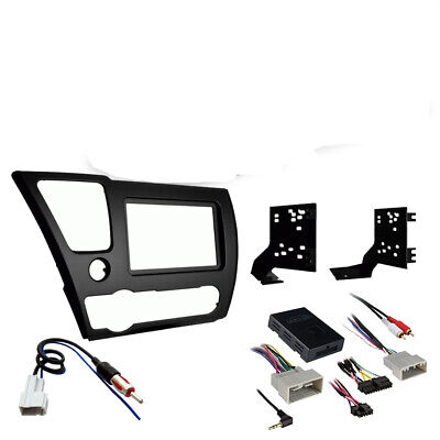 Honda Civic 2013-2014 Double DIN Stereo Harness Radio Install Dash Kit Package