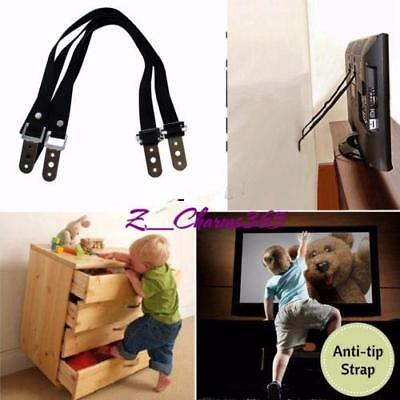 Anti-tip TV Furniture Safety Wall Strap Anchor Heavy Duty Mounting Nylon SALE C