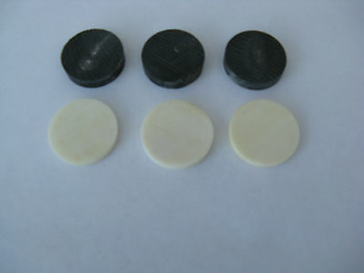 3   Black Buffalo Horn Spacers And 3 White Bone Spacers For Stickmaking