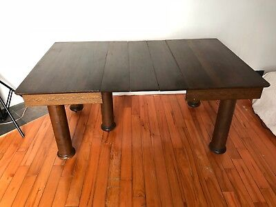 Antique Dinning room Table.table,dinning,brown,antique,cast iron,Victorian,fancy