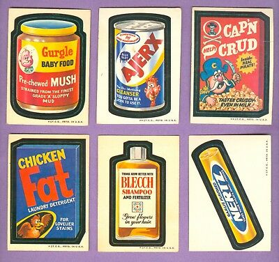 Lot of 14 Different 1973 Topps WACKY PACKAGES Cards, Series 2 Mid-Grade