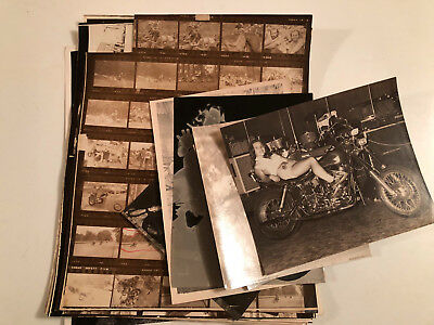 1969-71 Motorcycle Club & Dirt Bike Photo Lot- Nudes, Choppers +