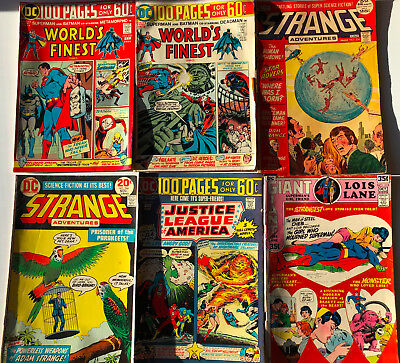 8 Bronze Age DC 100 Page Annuals- WORLD'S FINEST, UNEXPECTED,STRANGE ADVENTURES