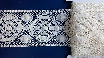 English Cluny Cotton Leavers Lace Edging Dresses Insertion Linen Vogue Couture