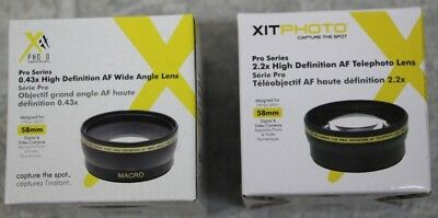 XIT Photo Pro Series 0.43x & 2.2x High Definition AF Lens 58mm