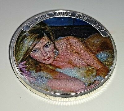 Ivanka Melania Trump Silver Coin Donald Blonde Girl Model Beautiful Amazing USA