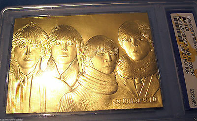 THE BEATLES Gold Card For Sale John Lennon Liverpool Rock & Roll Pop Music Album
