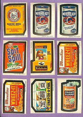 Lot of 33 - 1973 Topps WACKY PACKAGES Cards, Series 3 + 23 Checklists Mid-Grade