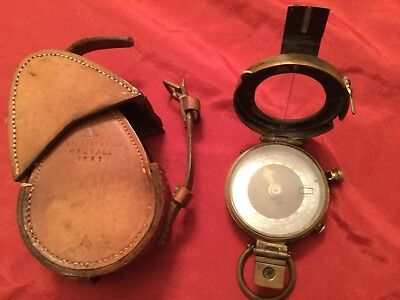WWII 1937 British Military Issue Compass,JM Glauser, No B.1738,MK.IX. with Case.