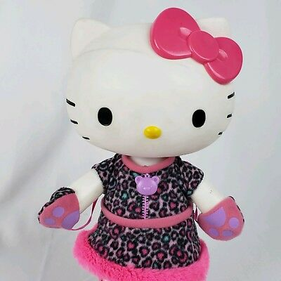 """Hello Kitty Sanrio Large 13"""" Poseable Dressable Doll leopard winter outfit #S1"""