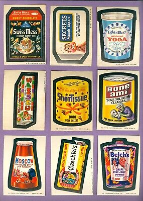 Lot of 26 - 1973 Topps WACKY PACKAGES Cards, Series 5-15