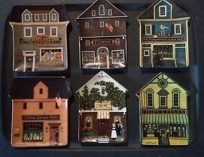 Charles Wysocki Set Of All 6 Folktown Collector Plates
