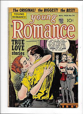 "Young Romance #74 [1954 Vg+] ""the Kissoff!""   True Love Stories"