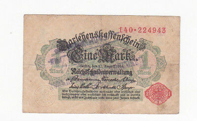 1 Mark Fine Note1918 With A Military Stamp From Yugoslavian Kingdom !rare!!