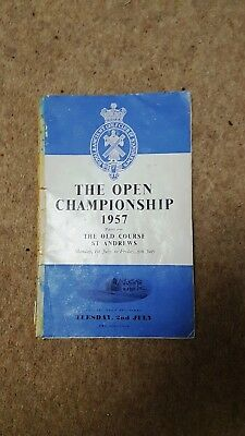 Open Championship 1957 Old Course St Andrews Programme/ Draw Sheet Tuesday