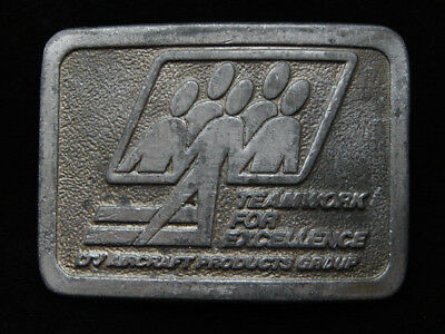PG05102 VINTAGE 1970s **UV AIRCRAFT PRODUCTS GROUP** AVIATION PEWTER BELT BUCKLE