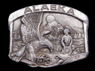 Mi27108 Vintage 1984 **Alaska** Commemorative Belt Buckle