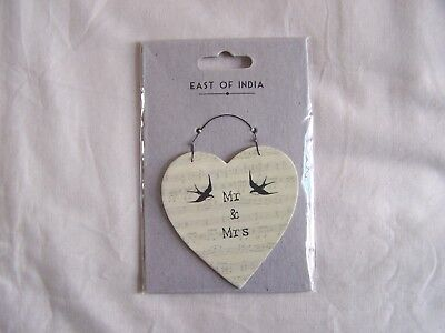 East Of India Porcelain Heart Dish Wedding Gift Anniversaries
