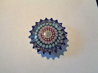 Perthshire Star Paperweight Concentric Millefiori Art Glass