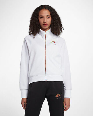 a7b1e82c2c39 Nike Air N98 Women s Jacket XS White Metallic Rose Gold Gym Casual New