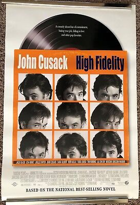 High Fidelity John Cusack Original Double Sided 27x40 Movie Poster Rolled