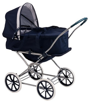 Badger Basket English Style 3-in-1 Doll Pram, Carrier, and Stroller fits Girl