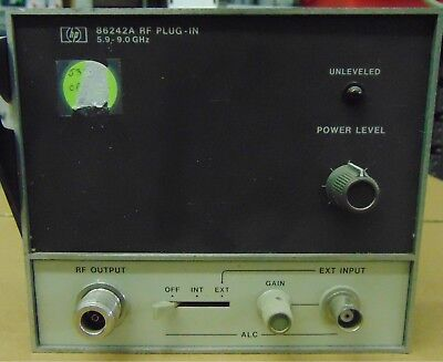 HP 86242A RF Plug In 5.9-9.0 GHz- USED; AS IS