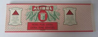 Wholesale Lot of 100 Old Vintage 1930's - ALIBEL - Belgian PEA CAN LABELS
