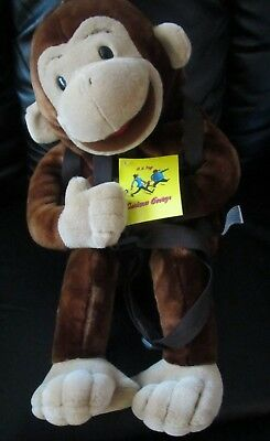 Curious George Plush Childrens Backpack & Hand Puppet Adjustable Straps 3+  #5