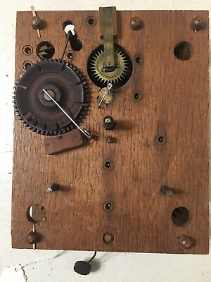 Antique Terry Era Wooden Works Clock Movement Fr: Jerome & Darrow Col & Splat