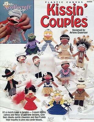 Kissin' Couples Kisses Kissies Squeezies Squeezums plastic canvas pattern book