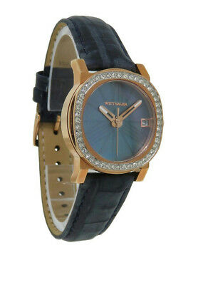 Wittnauer Crystals WN2000 Women's Slate Mother of Pearl Roman Numeral Date Watch