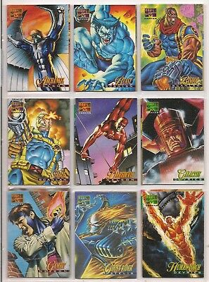 1995 Marvel Masterpieces Series 4 Complete 22 Card Canvas Chase Card Set Nm