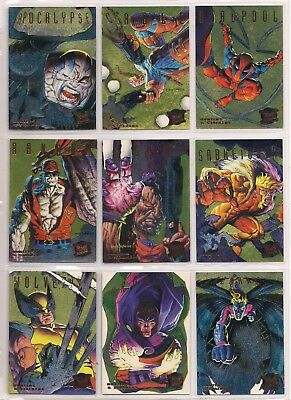 1995 Fleer Ultra X-Men Gold Hunters & Stalkers Chase Card Set Nm