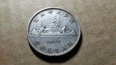 $1 1945 Canadian Silver Dollar