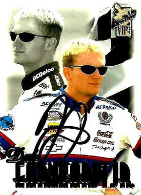 DALE EARNHARDT JR - Hand Signed Autographed  1999 Press Pass VIP  Card #30
