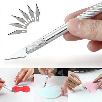 7PCS Hobby Razor Knife Set For DIY Handmade Crafts Cutting Carving Knife Stencil