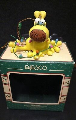 """1991 Enesco """"GRIMMY"""" What's The Bright Idea Christmas Ornament 2nd in Series"""
