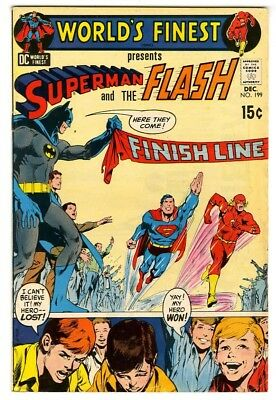 World's Finest #199 (1970) VG+ New DC Collection 3rd Superman/Flash race