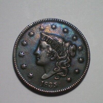 1835 Large Cent  Xf Detail
