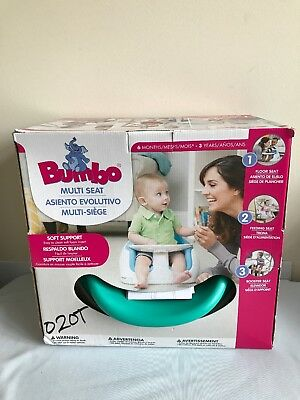 Bumbo 3-in-1 Unisex Multi Floor Booster Feeding Seat with Tray (Aqua)