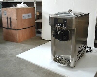 Commercial Soft Serve Ice Cream Machine Frozen Yogurt Equipment Free Cleaning