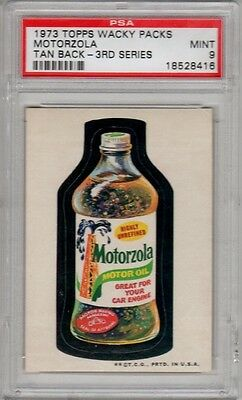 1973 Topps Wacky Packages Motorzola 3rd Series 3 PSA 9 MINT MT