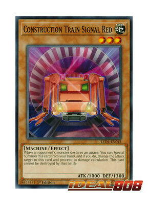 CONSTRUCTION TRAIN SIGNAL RED x3CommonLED4-EN043 YuGiOh