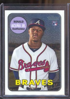 2018 Topps Heritage High Series - Chrome Rookie - Ronald Acuna Jr. #706/999